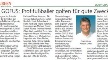 Green: Die GOFUS: Profifußballer golfen für gute Zwecke