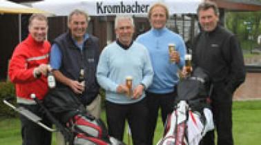 Krombacher sponsert golfspielende Fußballer