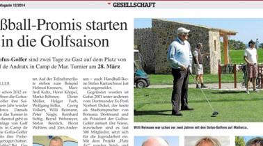 März 2014 – Fußballpromis starten in die Golfsaison