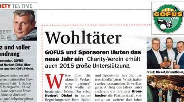 GOLF TIME – Wohltäter, GOFUS und Sponsoren läuten das neue Jahr ein