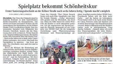Weser Kurier – Spielplatz bekommt Schönheitskur