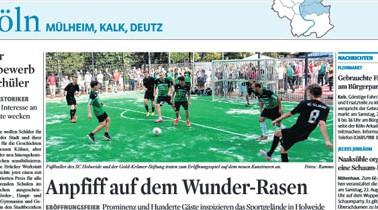 Kölner Stadt Anzeiger – Anpfiff auf dem Wunder-Rasen